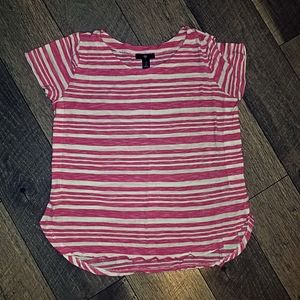 Gap pink and white stripe short sleeve top